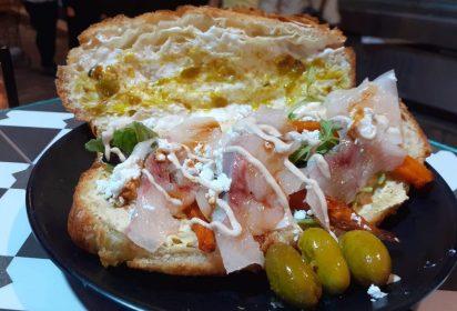 Yellowtail Sashimi Croissant.CroissantChef.Jerusalem.Kosher